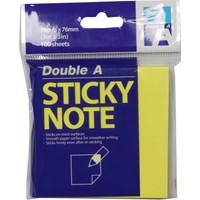 Double A Yapışkanlı Not Kağıdı Fosforlu Sarı