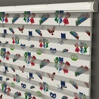 Ayze Home Erkek Çocuk Odası - Pijamaskeliler Baskılı Zebra Perde