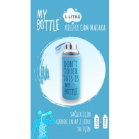 My Bottle Borosilikat Cam Matara 1000 ml Su Şişesi 1lt