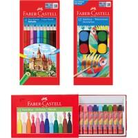 Faber-Castell Hayal Gücü Boyama Seti 3'lü (Boya Kalemi, Suluboya ve Pastel Boya)