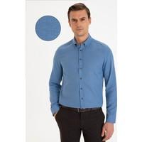 Pierre Cardin Lacivert Slim Fit Gömlek 50233530-VR033