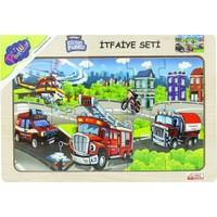 Onyıl Oyuncak Ahşap Eğitim Puzzle Itfaiye Seti