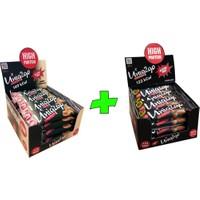 UNIQ2GO Crunchy Mıdı 40 G.- Fıstık Ezmeli Proteinli Bar 16'lı + UNIQ2GO Power Mıdı 38 G. Bademli Protein Bar 16'lı (Toplam 32 li Bar)