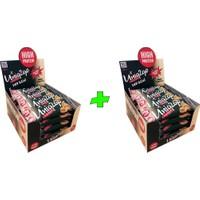 UNIQ2GO Crunchy Mıdı 40 G.- Fıstık Ezmeli Proteinli Bar 16'lı x 2 Kutu (Toplam 32 li Bar)