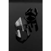 ByMasal Çelik Miğfer Figür Ayarlamalı Erkek Yüzük