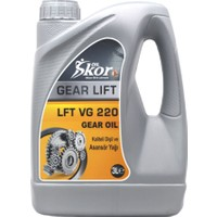 Skoroil Gear Oil 220 3 Litre - Dişli ve Asansör Yağı