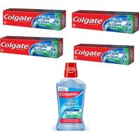 Colgate 3'lü Etki Nane Ferahlığı 4x50 ml +Colgate 500 ml + Etki Ağız Bakım Suyu