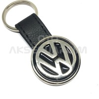 Oto Aksesuarcım Volkswagen Deri Luxury Metal Oto Anahtarlık Siyah