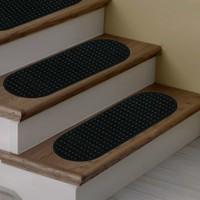 Stepmat Siyah Bukle Kaymaz Tabanlı Merdiven Basamak Paspası / Halısı