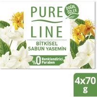 Pure Line Doğal Özler Bitkisel Bazlı Sabun Yasemin 4 x 70 gr