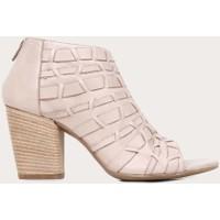 Bueno Shoes Deri Gri Kadın Topuklu Sandalet