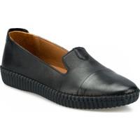 Polaris 91.111105 Siyah Deri Bayan Günlük Ayakkabı