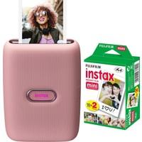 Fujifilm Instax Mini Link Pembe Akıllı Telefon Yazıcısı ve 20'li Mini Film