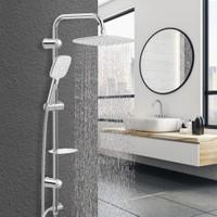 Baymera Aqua Chrome Grey Tepe Duş Seti VLTM-5440