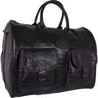 Bagacar Geniş El Bavulu ve Seyahat Çantası Kroko Siyah