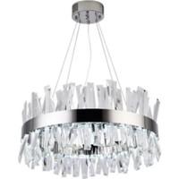 Burenze A++ Luxury Modern Kristal Taşlı Sarkıt Power LED Avize Kademeli 3 Renk Krom 50'lık BURENZE232