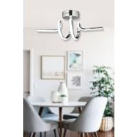 Luna Lighting LED Avize Ledli Sarkıt Krom Luxury Modern Plafonyer