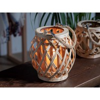 English Home Shiny Bambu Fener 19X18CM Bej