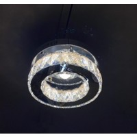 Burenze Luxury Modern Plafonyer Kristal Taşlı LED Avize Krom Kumandalı 3 Renk Uyku Modlu BURENZE759