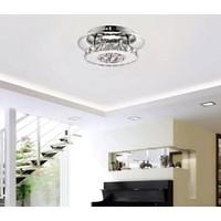 Burenze Luxury Modern Plafonyer Kristal Taşlı LED Avize Krom Kumandalı 3 Renk Uyku Modlu BURENZE765