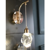 Burenze Modern Luxury Kristalize Camlı Power LED Aplik Gold Sarı Concept Ürün Gün Işığı BURENZE305