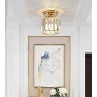 Burenze Modern Luxury Plafonyer Kristal Taşlı Avize Gold Sarı BURENZE706