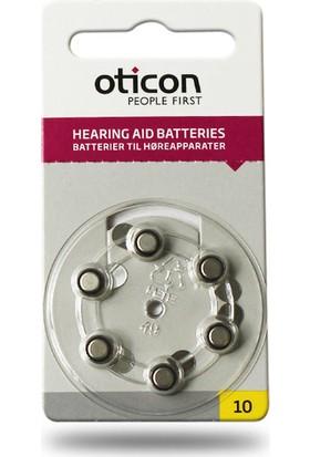 Oticon 10 Numara İşitme Cihazı Pili 5 Paket 30 Adet
