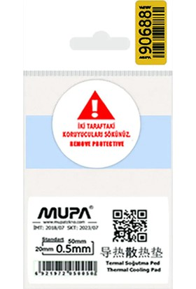Mupa Termal Ped / Thermal Pad 0.5mm 3.6W/MK 5X2cm
