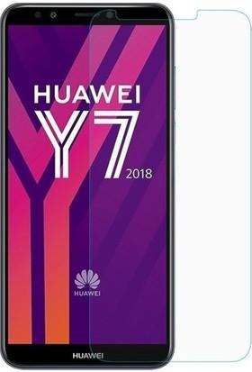 Fibaks Huawei Y6 2018 Kılıf + Ekran Koruyucu A+ Şeffaf Lüx Süper Yumuşak 0.3mm Ince Slim Silikon