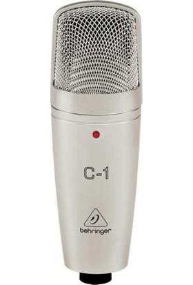 Behringer Um2 Ses Kartı, Behringer C-1 Kondenser Mikrofon, Behringer HPS3000 Stüdyo Kulaklığı, Masa Tipi Mikrofon Standı + Shock Mount + Pop Filtre, Euroclub - Cmc 500B 5 Metre Xlr Mikrofon Kablosu