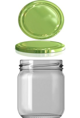 Paşabahçe Cam Kavanoz 210 cc Yeşil Kapak 10 Adt Ek Gıda Bebe