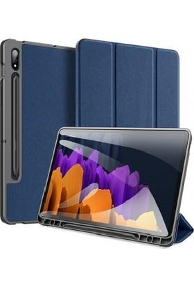 Haweel Samsung Tab S7 Plus 12.4'' ( SM-T970/T975/T976/T978 ) Tablet Kılıfı Mavi