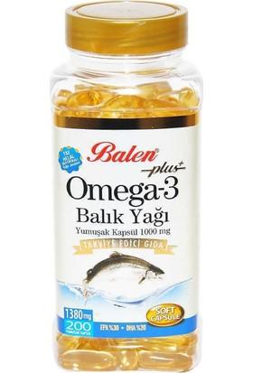 Balen Omega 3 Balık Yağı Softjel 1380 Mg 200 Adet Kapsül