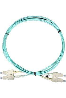 Canovate Fiber Optik Patch Kablo Scpc/scpc Duplex Multimode (Mm) 3mt Patch Cord Aqua Renkli