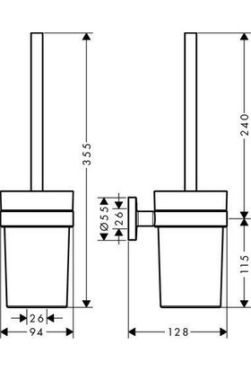Hansgrohe Logis Banyo Aksesuar Seti - 4