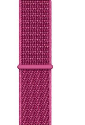 Quse Apple Watch Seri 7 6 5 4 3 2 1 SE 38mm-40mm-41mm Spor Loop Dokuma Kordon Koyu Pembe