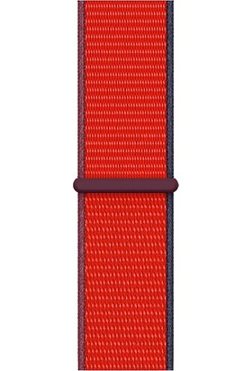 Quse Apple Watch Seri 7 6 5 4 3 2 1 SE 38mm-40mm-41mm Spor Loop Dokuma Kordon Koyu Kırmızı