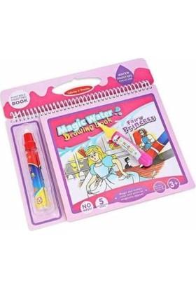 Masho Trend Barbie Çocuk Ders Çalışma Masası - Prenses Ders Masası + Prenses Sihirli Su Boyama Kitabı