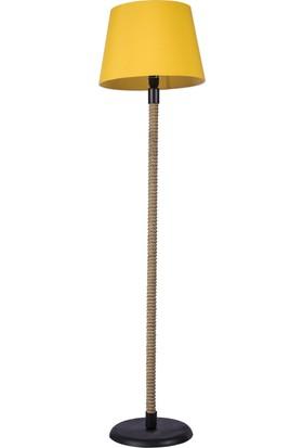 Beka Sarı Konik Halatlı Lambader 3 Ayaklı Lambader