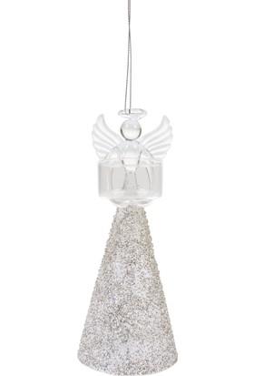 Mudo Concept Melek Yılbaşı Mumluk Silver 18 cm