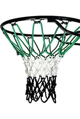 Özbek Basketbol Filesi 4mm Polys. Yeşil - Beyaz - Siyah - 2 Adet (Basketbol Pota Ağı)