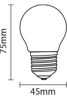 Heka G45 6 Watt Gold Cam Flamanlı Rustik LED Edison Ampul
