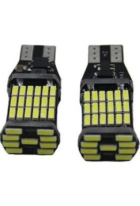 Sisa T10 T15 LED (1 Takım) Geri Vites,plaka,araç Iç Mekan, 45 Ledli