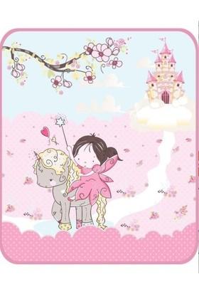 Soley Fairy Baskılı Pembe Bebek Battaniyesi