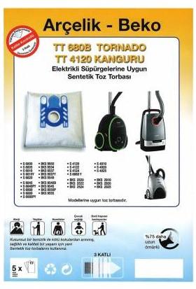 FERSAN Arçelik Beko TT680 TT4120 Tornado Kanguru Uyumlu Torba 10 Adet