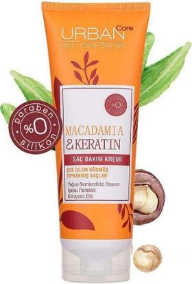 Urban Care Makademya Yağı ve Keratin Içeren Onarıcı Saç Bakım Kremi 250 ml