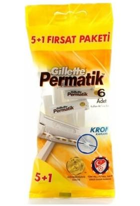 Gillette Series Tıraş Jeli 75 ml Hassas + Gillette Permatik Krom Kaplamalı Kullan At Tıraş Bıçağı 5+1 6'lı