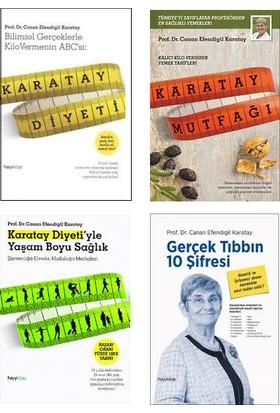 Canan Karatay 4 Kitap Set (Karatay Diyeti, Karatay Mutfağı, Karatay Diyetiyle Yaşam Boyu Sağlık, Gerçek Tıbbın 10 Şifresi)