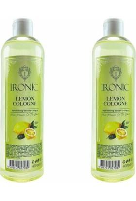 Ironic Limon Kolonyası 80 Derece 2X400 ml