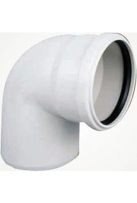 Dizayn 125X90 Pvc Dirsek 125'LIK 90 Derece Pimaş Atık Su Borusu Dönüş Parçası